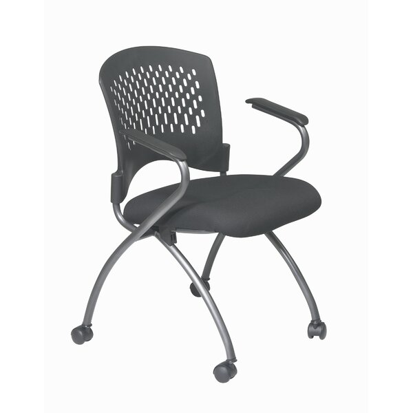 ProLine II Deluxe Folding Chair with Plastic Back and Arms in Titanium (2-Pack) by Office Star Products
