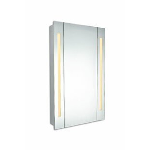Corby 19.5 x 27.5 Surface Mount Frameless Medicine Cabinet with LED Lighting