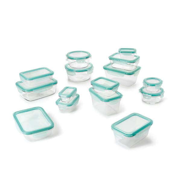 Good Grips SNAP Glass and Plastic 15 Container Food Storage Set by OXO