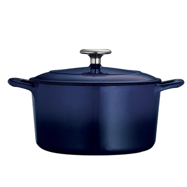 Gourmet Enameled Cast Iron 3 5 Qt Round Dutch Oven By Tramontina.