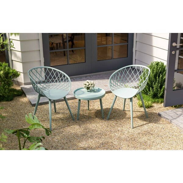 Brower 3 Piece Seating Group by Bungalow Rose