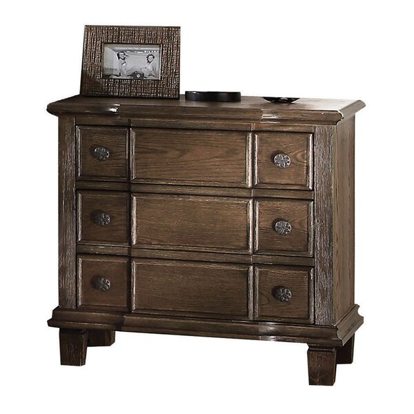 Plains Weathered 3 Drawer Nightstand by Ophelia & Co.
