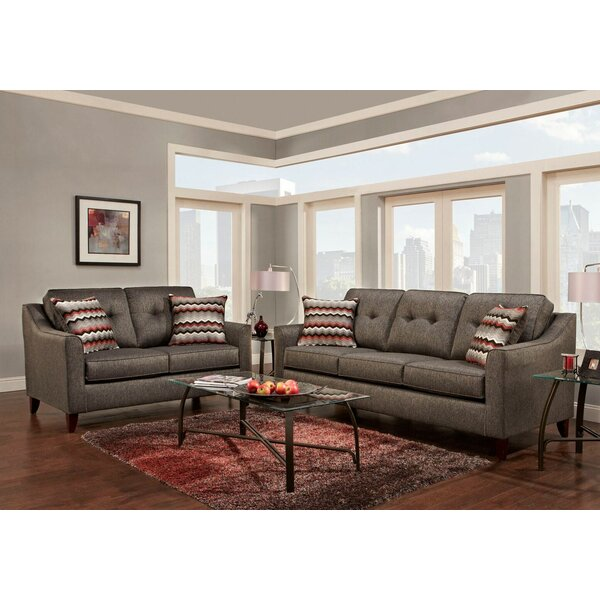 Silverberg Tufted 2 Piece Living Room Set by Wrought Studio