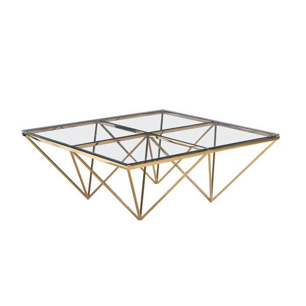 Clairview Diamond Leg Coffee Table by Orren Ellis
