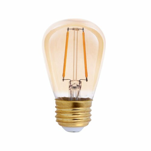 25W Equivalent Amber E26 LED Standard Edison Light Bulb by TriGlow