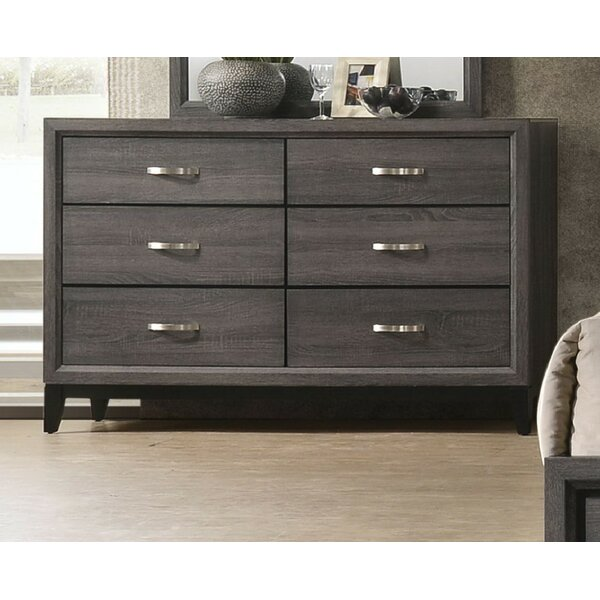 Caudillo 6 Drawer Double Dresser by Gracie Oaks