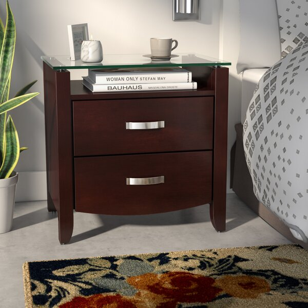 Rushmere 2 Drawer Nightstand by Latitude Run