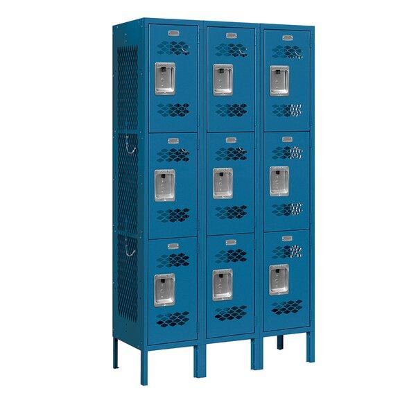 3 Tier 3 Wide Gym and Locker Room Locker by Salsbu