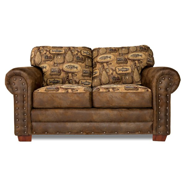 Lucienne River Bend Rolled Arms Loveseat By Loon Peak