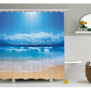 Beaty Cloudy Sky in Sea Summer Shower Curtain ByLatitude Run