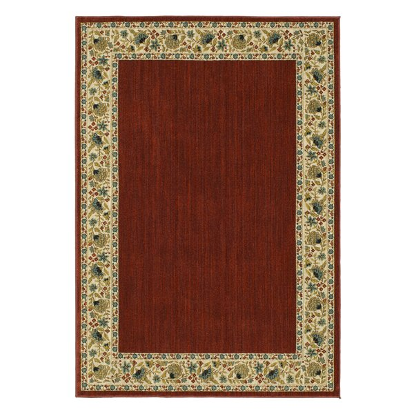 Rabon Burgundy/Ivory Area Rug by Astoria Grand