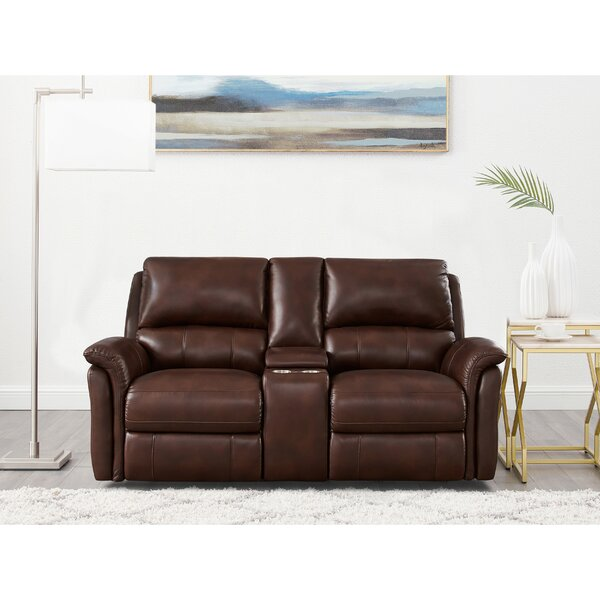 Genie Leather Reclining Loveseat By Winston Porter