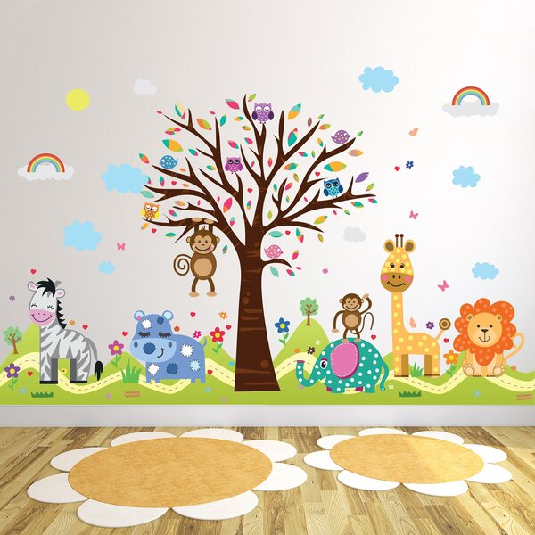 Howington Zoo and Happy Hills Wall Decal by Zoomie Kids