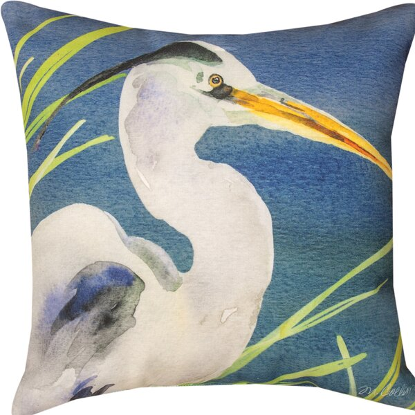 Heron Throw Pillow by Manual Woodworkers & Weavers