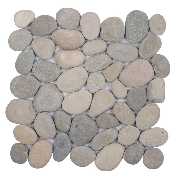 Classic 12 x 12 Pebble Tile in Gray by Pebble Tile