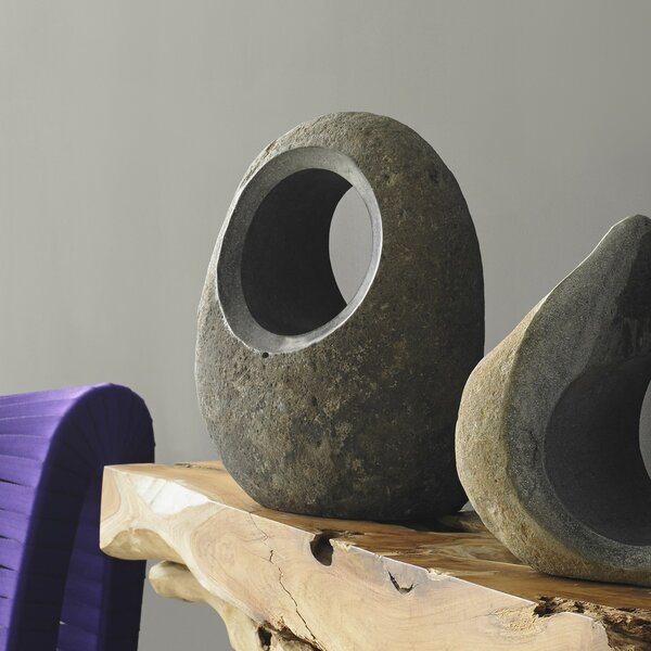 Clarissa Full Moon Solid Stone Sculpture by Foundry Select