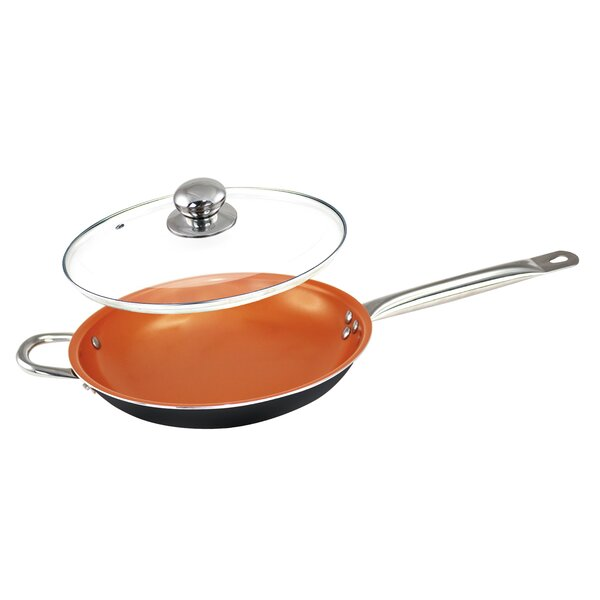 Non-Stick 12 Frying Pan with Lid by Volar Ideas