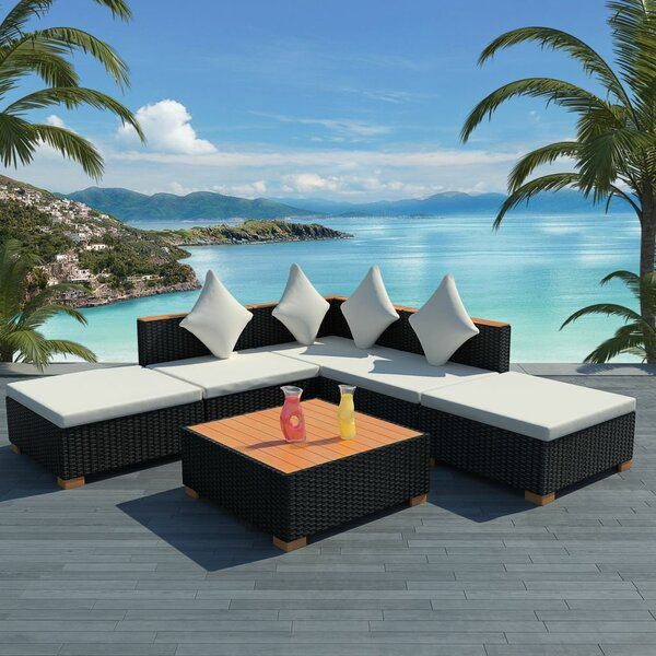 Torpoint Garden 6 Piece Sectional Seating Group with Cushions by Ivy Bronx