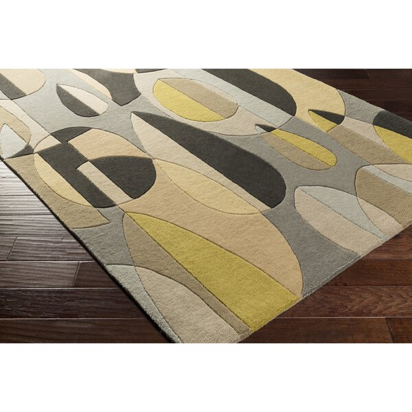 Dewald Hand-Tufted Black/Brown Area Rug by Ebern Designs