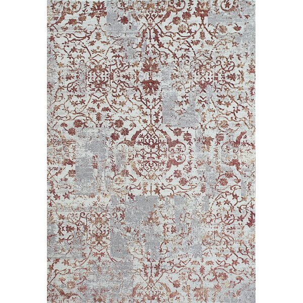 Caddie Red/Beige Area Rug by Ophelia & Co.