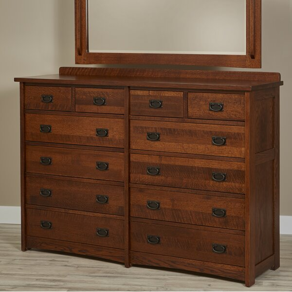 Kristin 12 Drawer Double Dresser by Loon Peak