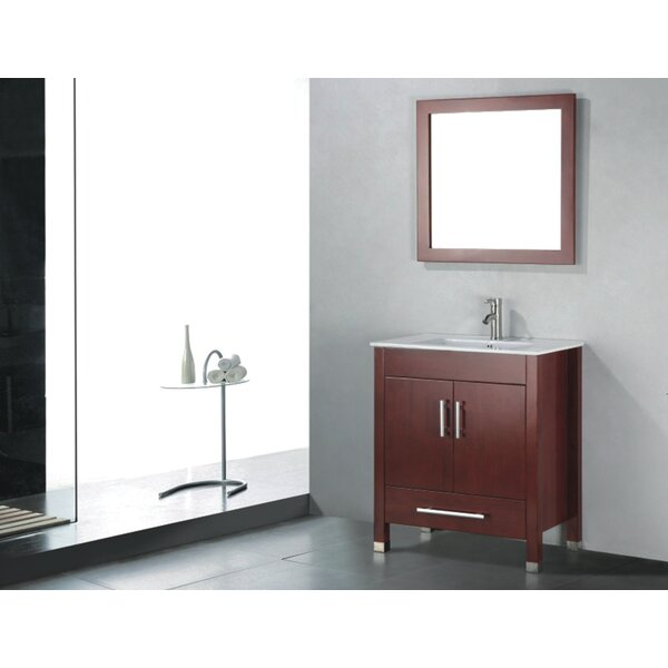 Vidya 36 Single Wood Bathroom Vanity Set with Mirror by Latitude Run