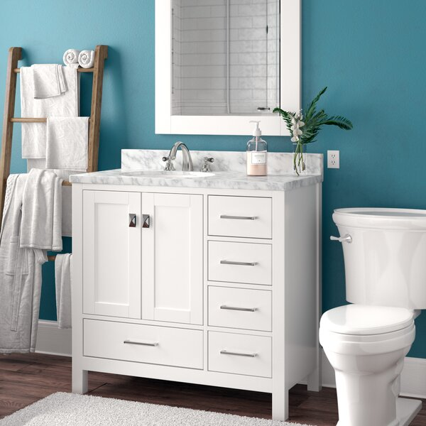 Werth 42 Single Bathroom Vanity Set with Mirror by
