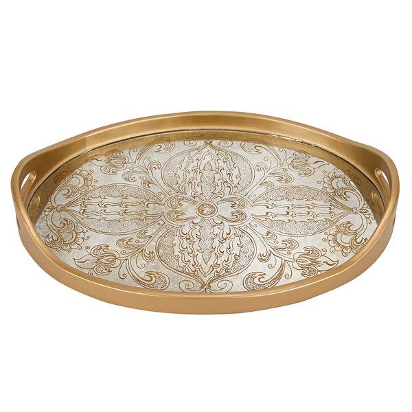 Manta Gold Oval Tray by Badash Crystal