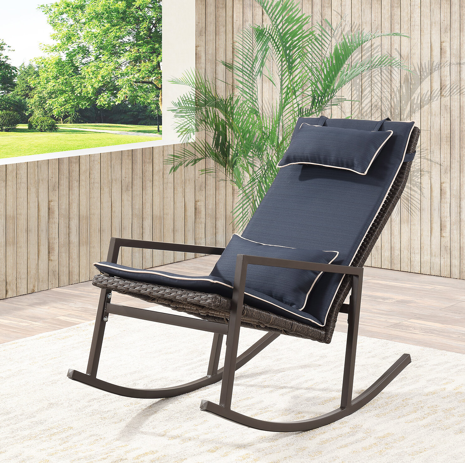 Tremberth Outdoor Rocking Chair With