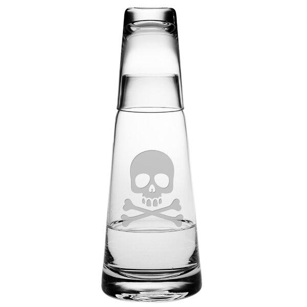 2 Piece Skull and Crossbones Cone Night 29.5 oz. Carafe Set by Susquehanna Glass