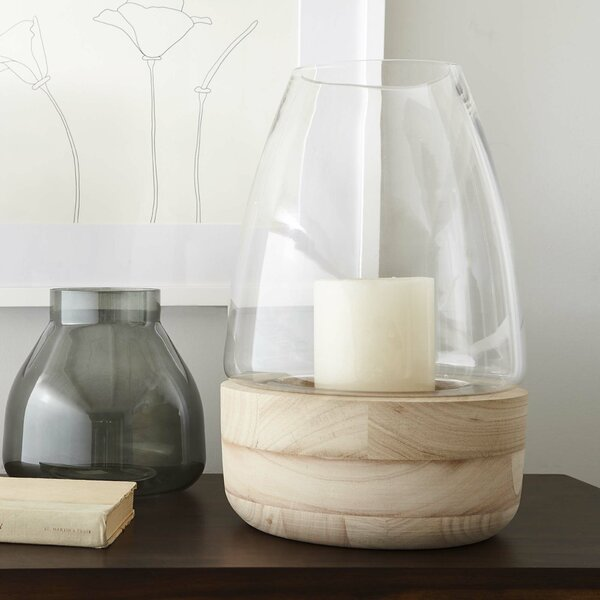 Glass and Wood Lantern by Corrigan Studio