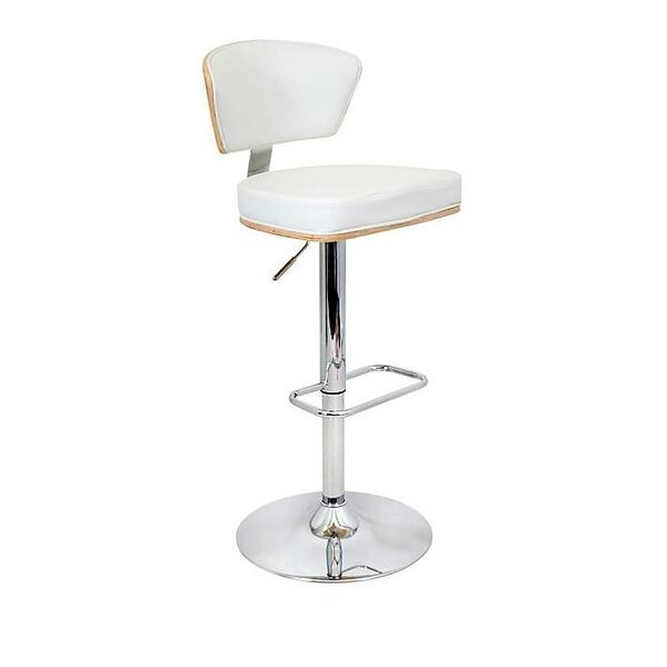 Mikaela Adjustable Height Swivel Bar Stool by Corrigan Studio