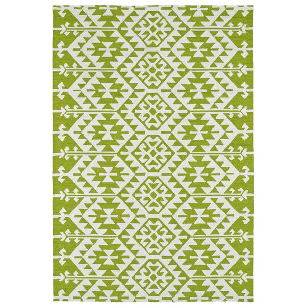 Lime Green/Ivory Indoor/Outdoor Area Rug by Wrought Studio