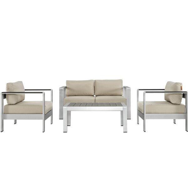 Coline 4 Piece Sofa Set with Cushions by Orren Ellis