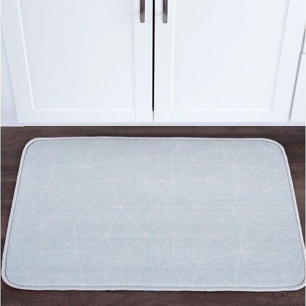 Knepp Facet Seafoam Foam Core Bath Rug by Zipcode Design