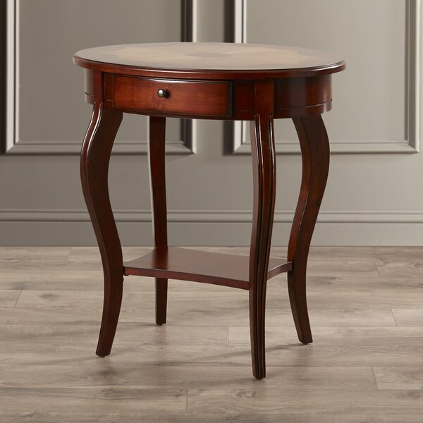 Mela Cherry End Table by Astoria Grand