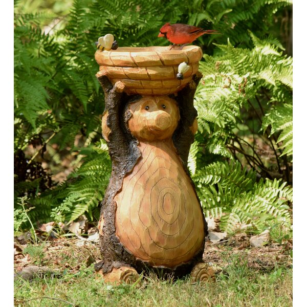 Resin Bear Birdbath by Plow & Hearth