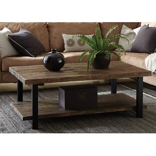 Borica 42 Wood Metal Coffee Table