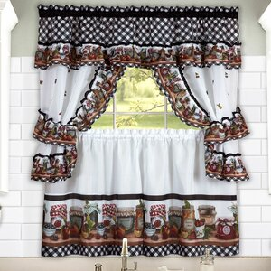 Carney Jars Valance and Tier Set