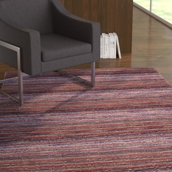 Keith Purple Stripe Area Rug by Latitude Run