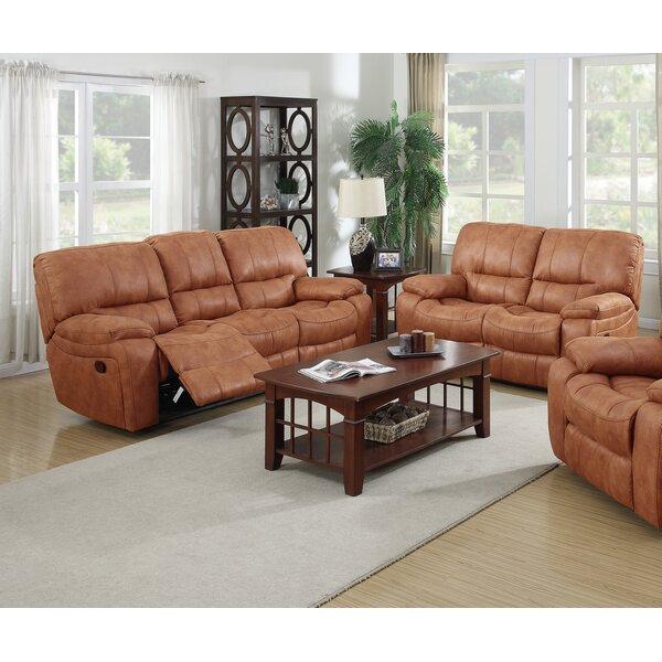 #2 Agastya Reclining 2 Piece Leather Living Room Set By Red Barrel Studio Sale