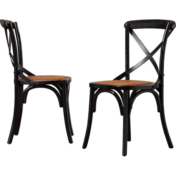 Elanore Cross Back Side Chair (Set Of 2) By Greyleigh