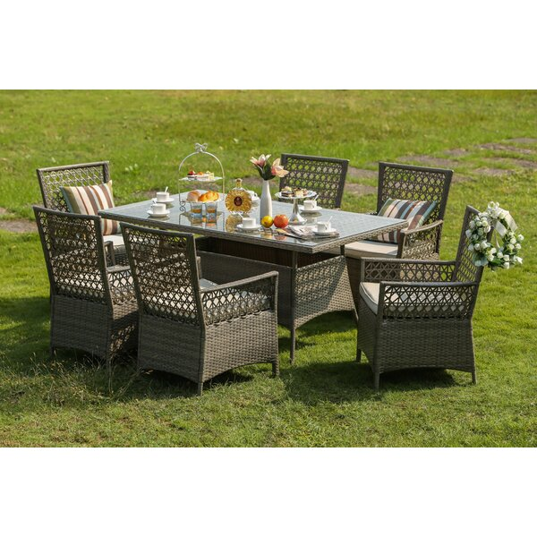 Horvath 7 Piece Dining Set with Cushions by One Allium Way