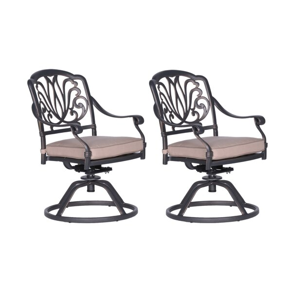 Beaufort Patio Chair with Cushion (Set of 2) by World Menagerie