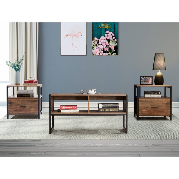 Jensen 3 Pieces Coffee Table Set by 17 Stories