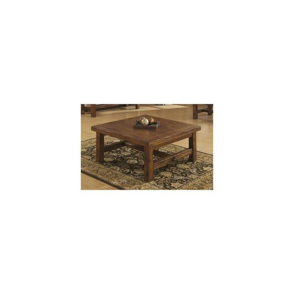 Lyons Solid Wood Trestle Coffee Table By Loon Peak