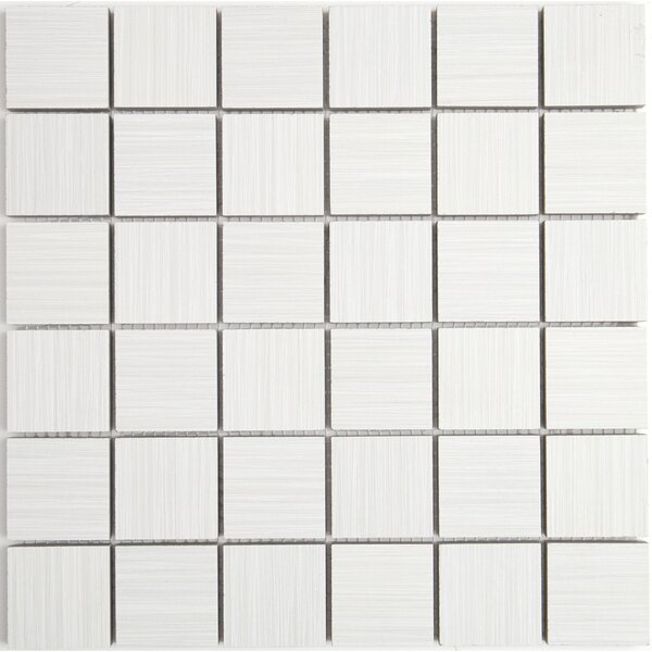 Fabrique 12 x 12 Ceramic Wood Look Tile in Blanc Linen by Daltile
