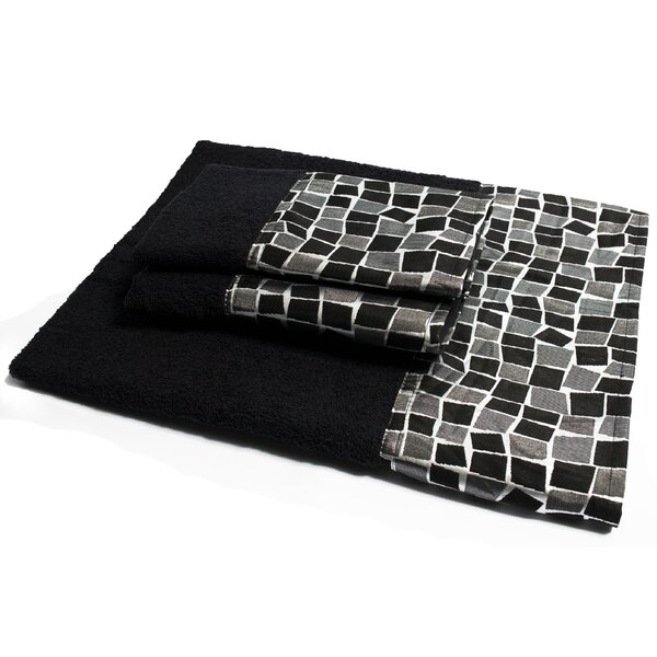 Mosaic Stone 3 Piece Towel Set by Sweet Home Collection