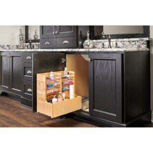 Wood Vanity Sink Base Storage Pull Out Drawer by Rev-A-Shelf