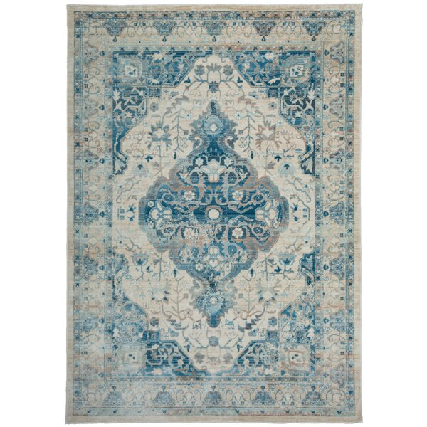 Myah Blue Area Rug by Ophelia & Co.
